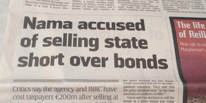 Exposing NAMAs €200m kick to taxpayers in Sunday Times