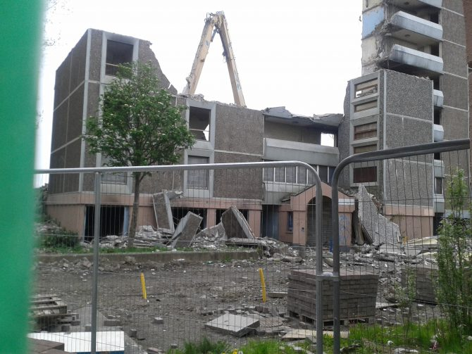 Ballymun Flats Demolition Update