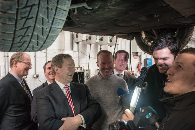 Taoiseach and Leo Visit Finglas and Drumcondra